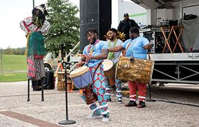 African dancers and drummers