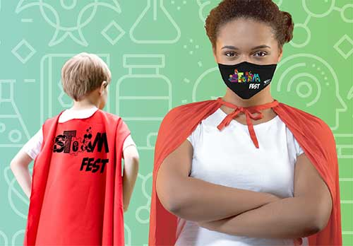 steam festival cape and face mask