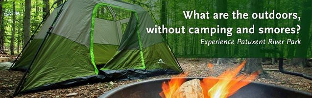 campfire and camping tent