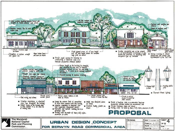 Urban Design Concept Berwyn Road Commercial Area Mncppc Md