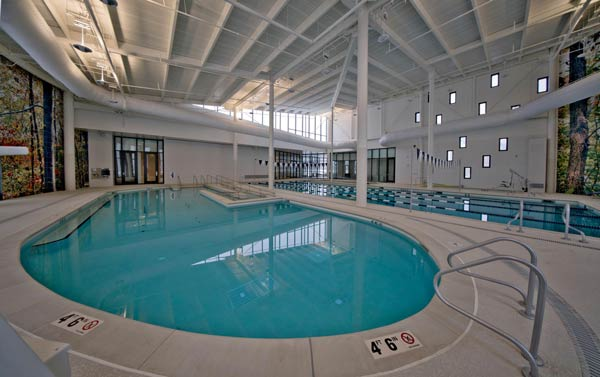 The aquatic wellness center pool