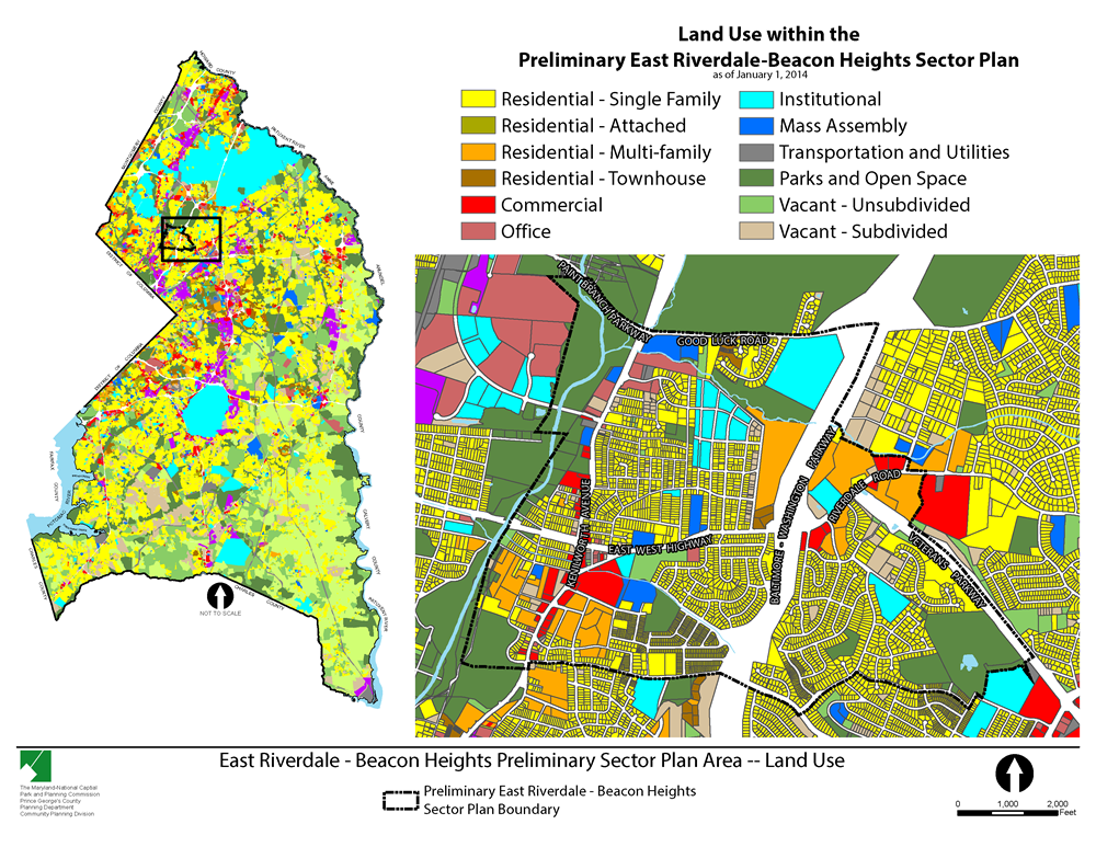 Land Use Within the Preliminary East Riverdale-Beacon Heights Sector Plan