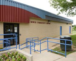 The exterior of the Bowie Community Center building
