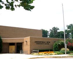 front entrance to the Deerfield Run community center
