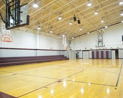 the basketball court at glassmanor community center