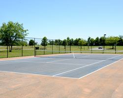 Outdoor tennis court at Largo Community Center