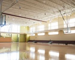 Indoor basketball court/gymnasium at Palmer Park Community Center