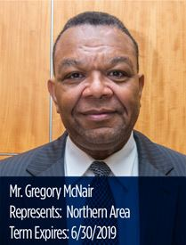Headshot of Gregory McNair, Northern Area representative on the Parks and Recreation Advisory Board