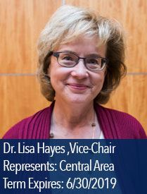 Headshot of Lisa Hayes, vice chair of Central Area on the Parks and Recreation Advisory Board
