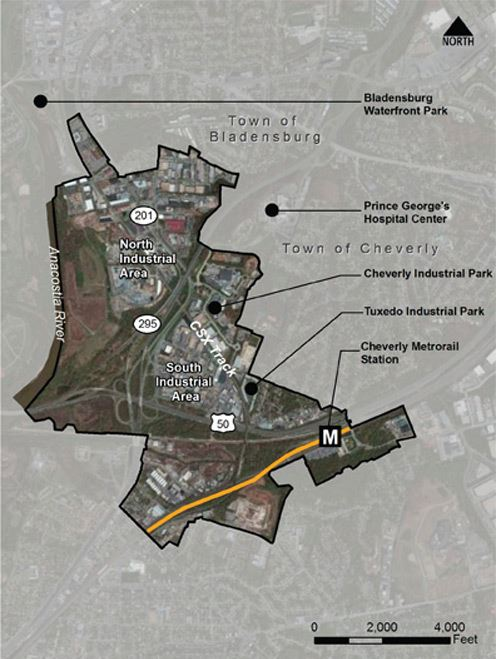 Larger Kenilworth Cheverly Industrial Study Area Map