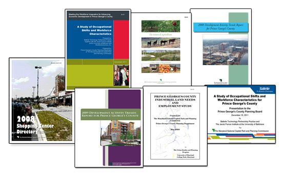 Collage of report covers