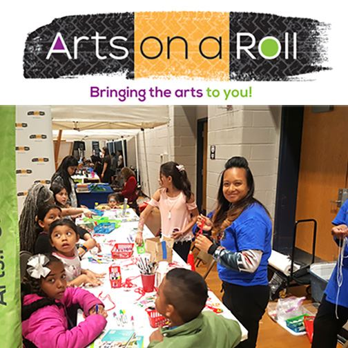 arts on a roll project with logo