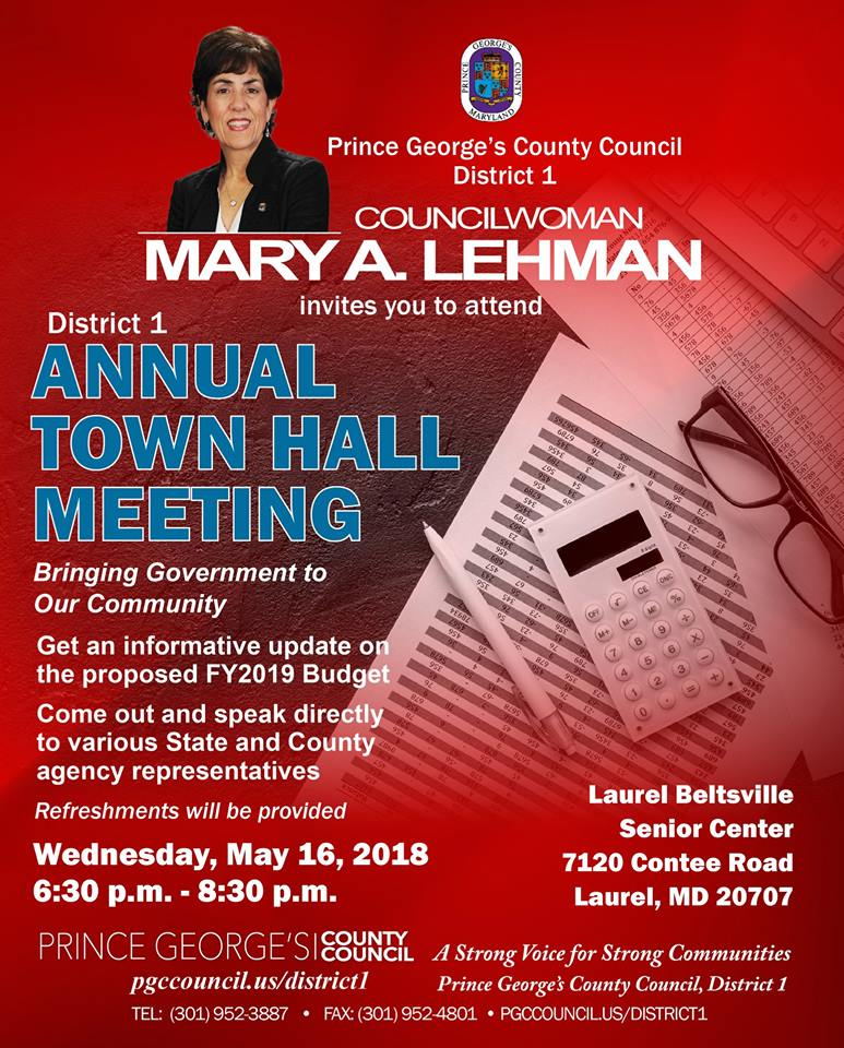District 1 Annual Town Hall Meeting