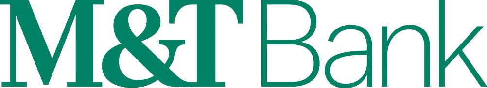 Logo for M and T Bank written in green letters.