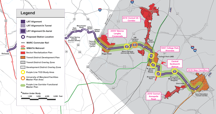 Purple Line TOD Study Map