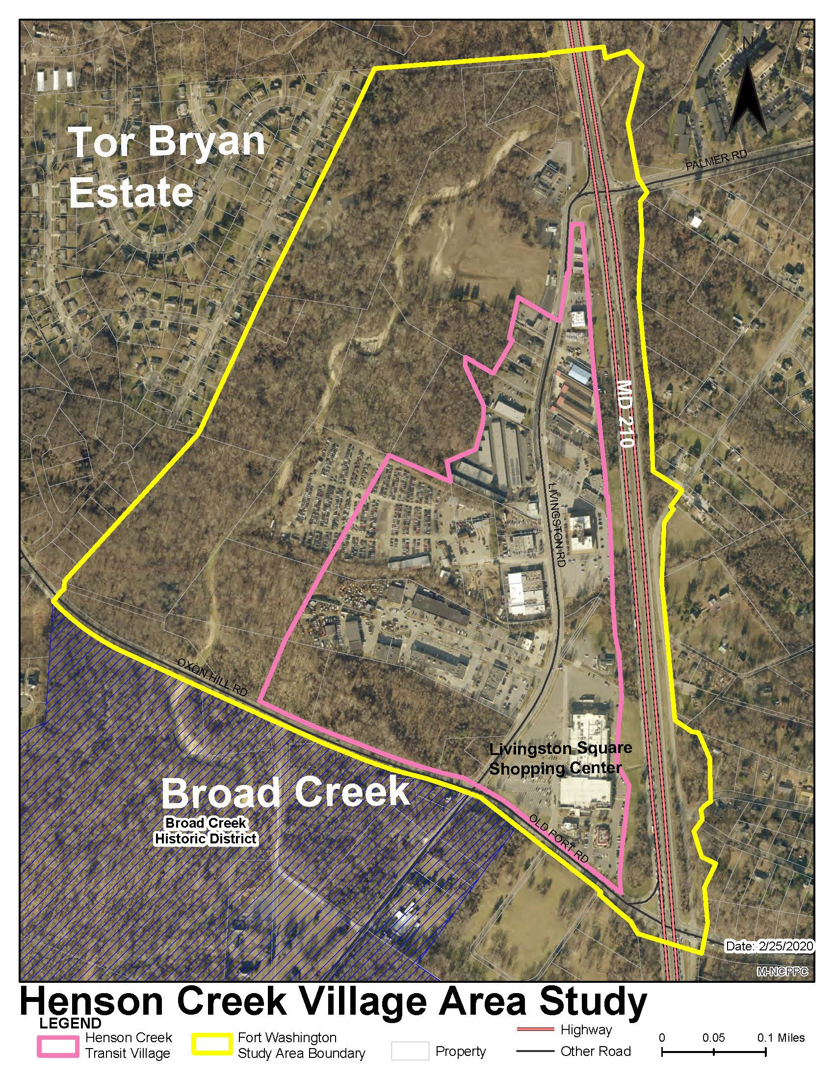 Henson Creek Transit Village Study Boundary