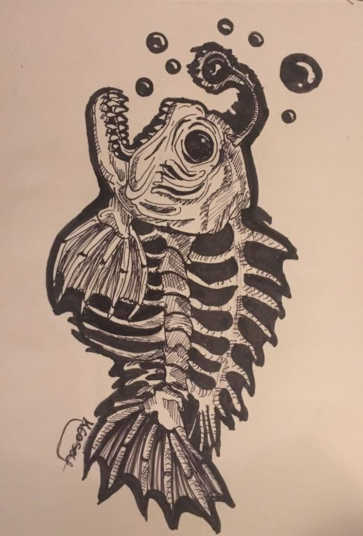 Kayla R. Fish x-Ray Drawing