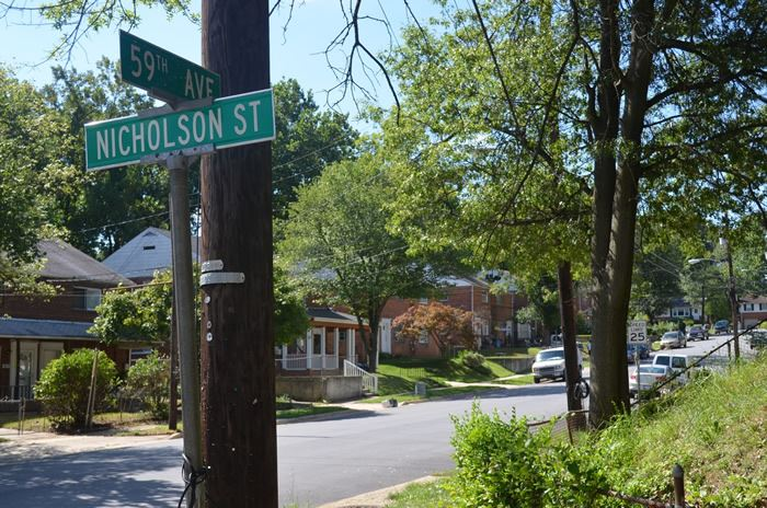 Residential Street at 59th Avenue and Nicholson Street