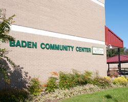 Baden Community Center Sign
