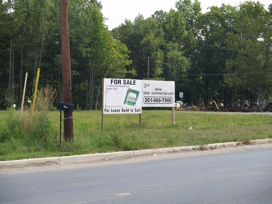 14124 Brandywine Road empty lot with for sale signs