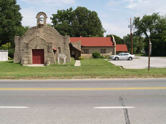 Chapel of Incarnation building and roadway in front of it